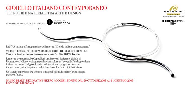 gioiello italiano contemporaneo